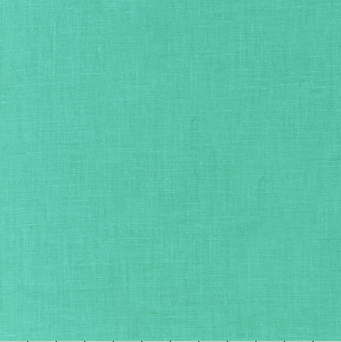 Sashiko Fabric - Cotton-Linen - AQUA