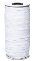 Notions -  Braided Elastic - 1/4 inch - White