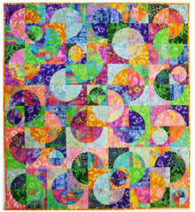 "Quilt Pattern - Elisa's Backporch Designs - Circle Dance Pattern & 7"" Crazy Curves Template"