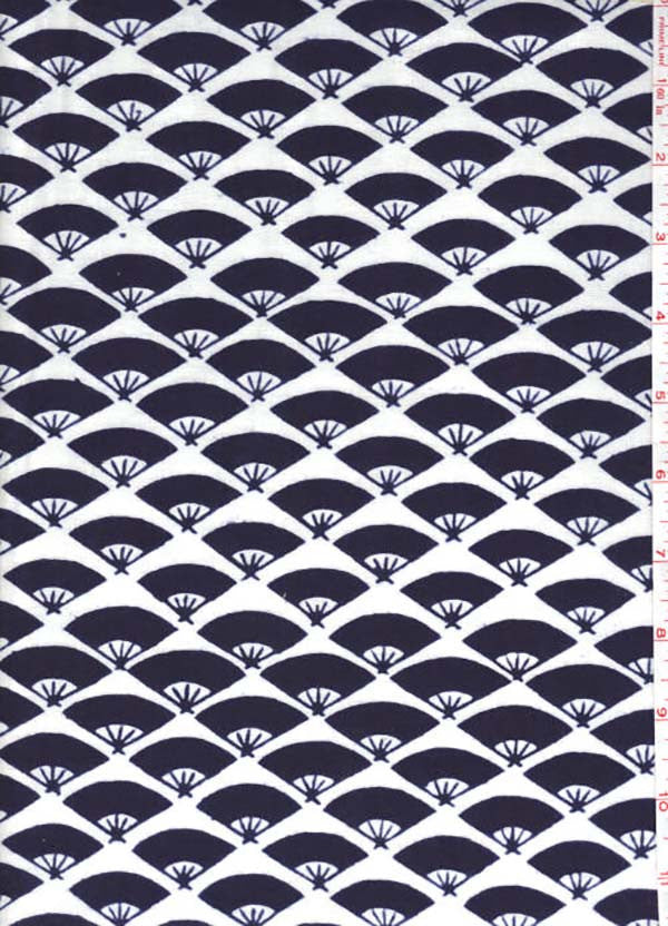 Yukata Fabric - 060 - Small Diagonal Fans