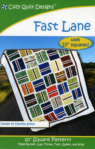 Quilt Pattern - Cozy Quilt Designs - Fast Lane