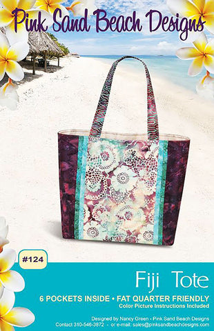 Bag Pattern - Pink Sand Beach Designs - Fiji Tote - ON SALE