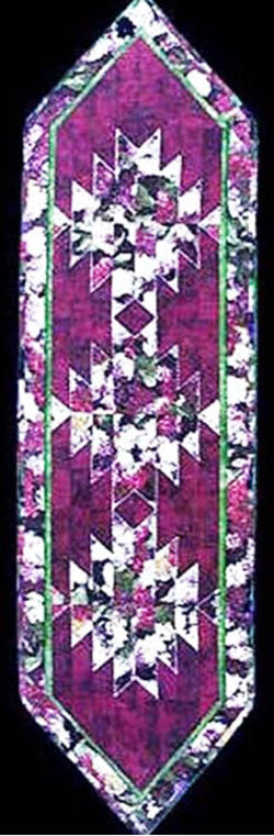 Table Runner Pattern - Art of the Quilt - Fractured