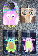 Pot Holder Pattern - Give a Hoot - Fun Owl Appliques