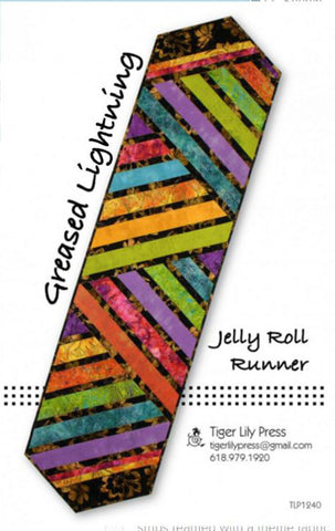 Table Runner Pattern - Tiger Lily Press - Greased Lightening - Jelly Roll Runner