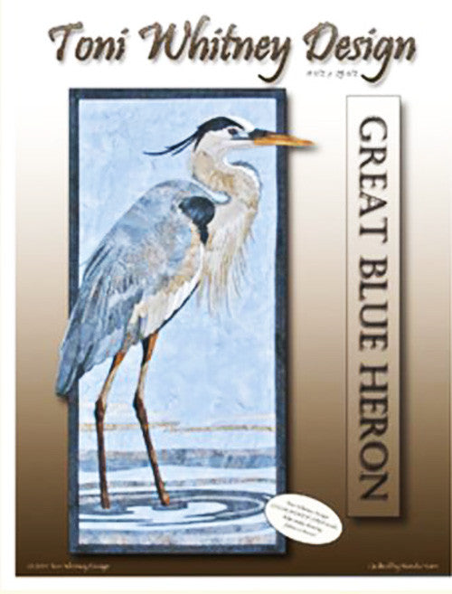 Quilt Pattern - Toni Whitney Design - Great Blue Heron