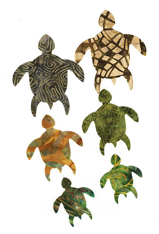 Fabric Fun Shapes - Honu Turtle Family - Au Naturel