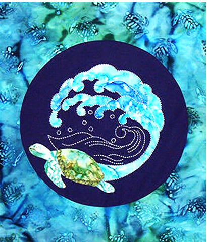 Sashiko - Sylvia Pippen Designs - Honu Sea Turtle & Wave - Kit