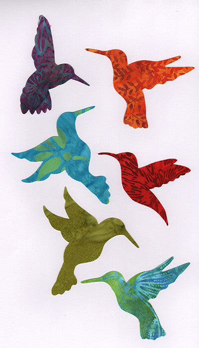 Fabric Fun Shapes - Hummingbird Family