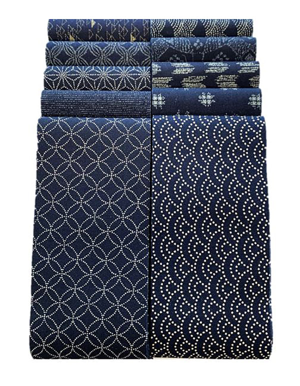 "*Japanese Traditional Indigo Strips - 20 - 2 1/2"" Strips- Japanese Indigo"