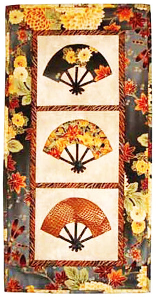 Quilt Pattern Castilleja Cotton Japanese Fans