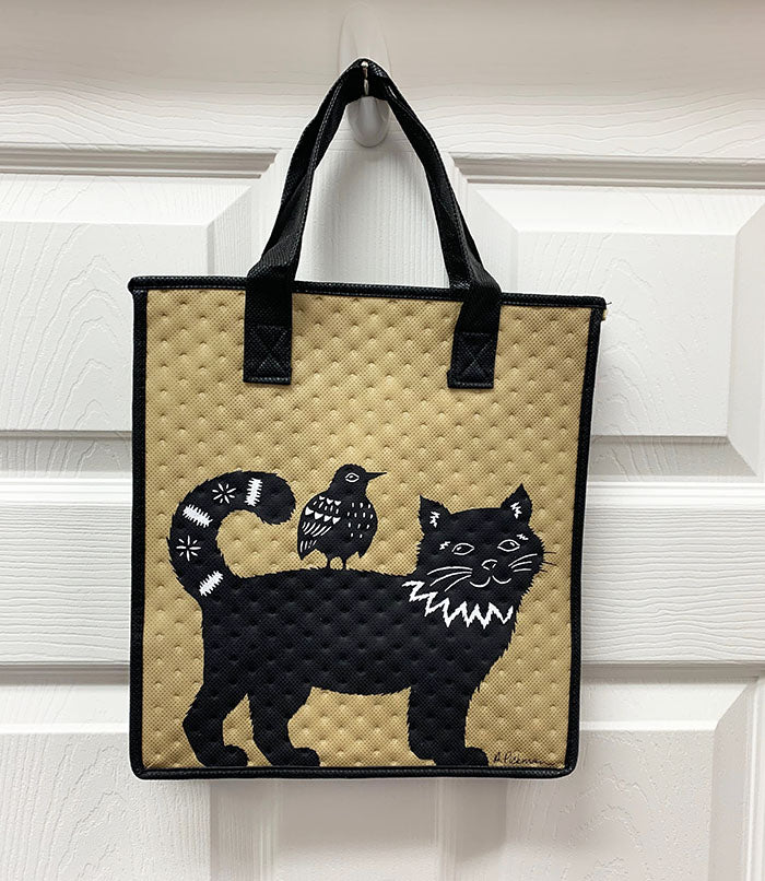 Kona Bay Bag - Hot & Cold Bag - Harmony - Cat & Bird - Black & Tan