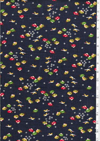 Japanese * Indigo - KW3375-38A - Small Colorful Birds