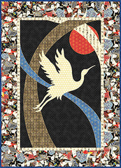 Quilt Pattern - Quilt Poetry - Crane in Flight