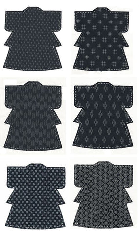 Fabric Fun Shapes - Japanese Kimono - INDIGO