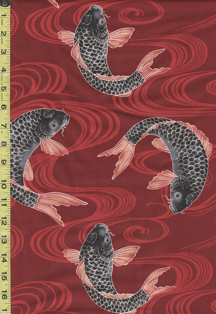 Japanese - Westex Tumbling Koi - H-7038-1C - Red