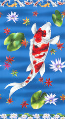 Asian - Kyoto Garden - Large Koi & Water Lilly - PANEL - SALE