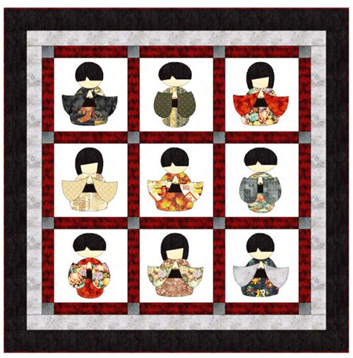 Quilt Pattern - Fat Cat Patterns - Kokeshi
