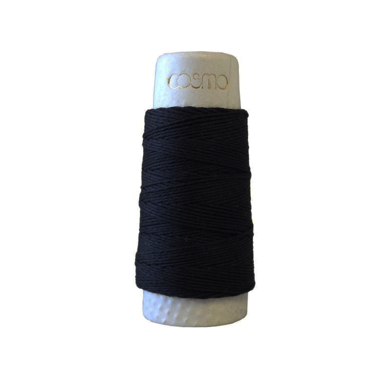 Sashiko Thread - Hidamari - LEN88-016 - MIDSUMMER NIGHT (Black)
