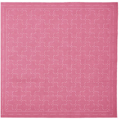 Sashiko Pre-printed Sampler - Hidamari Cosmo - Juji-tsunagi 98907-21 - Plum (Dark Rose) - ON SALE
