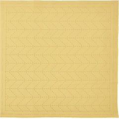 Sashiko Pre-printed Sampler - Hidamari Cosmo - Sugiaya 98908-50 - Beige (Soft Gold) - ON SALE