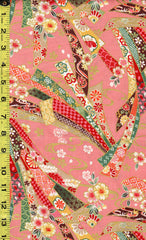 Japanese - Kokka Princess Heart - Colorful Floral Noshi Ribbons - LGA-21000-1B11-Pink