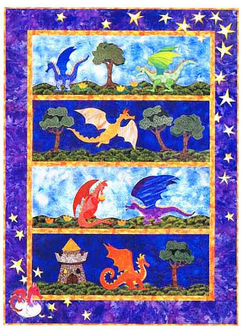 Quilt Pattern - Needlesongs - Little Dragons Everywhere