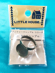 Notions - Little House - Japanese Sashiko Brass Plate Palm Thimble