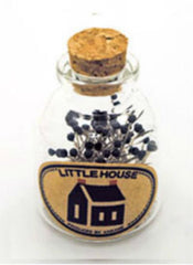 Notions - Little House Japanese Glass Head Pins in Glass Bottle