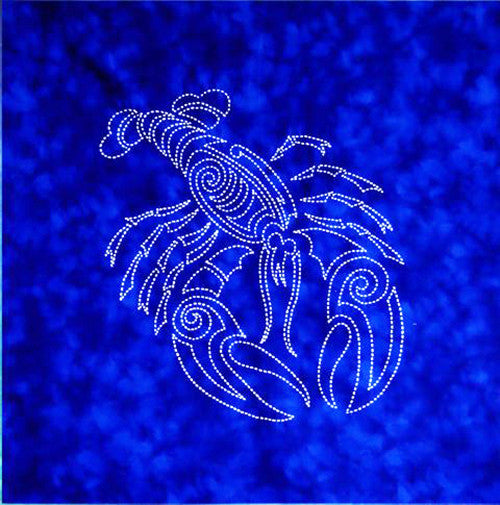 Sashiko - Pre-printed Sea Life Panel - Lobster