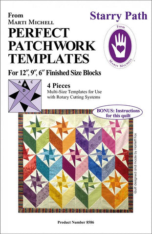 Quilt Pattern & Template - Marti Michell - Perfect Patchwork Templates - Starry Path # 8586