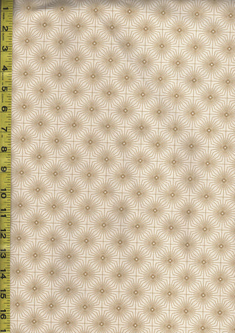 Asian - Coordinate - Radiating Squares - Gold Metallic - Cream-Beige - Last 2 yards