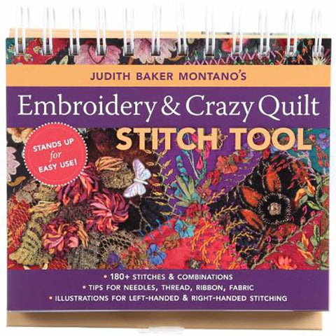 Book - Embroidery & Crazy Quilt Stitch Tool - Judith Baker Monanto