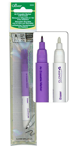 Notions - Clover Air Erasable Marker & Eraser - Purple - # 5032