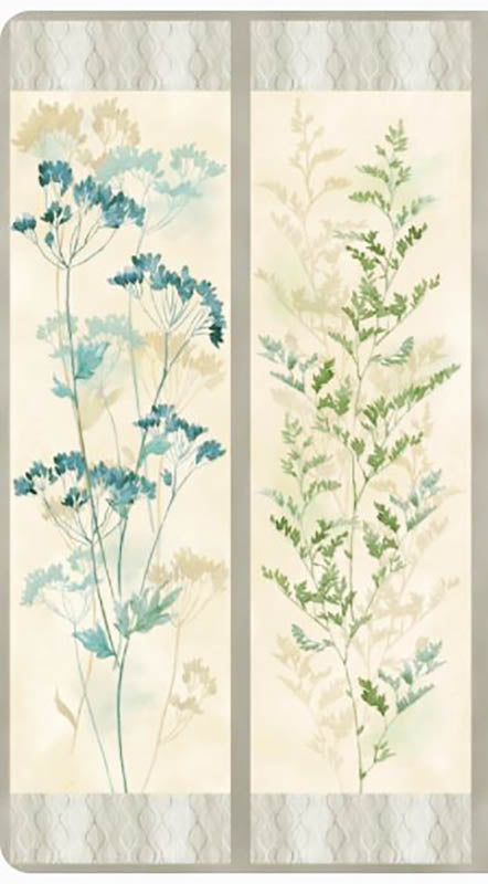 Floral Fabric - Neutral Nature Wild Flower PANEL