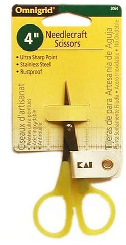 Scissors - KAI/ Omnigrid Needlecraft Scissors # 2064 - 4