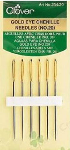 Notions - Clover Gold Eye Chenille Needles - No. 20