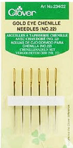 Notions - Clover Gold Eye Chenille Needles - No. 22