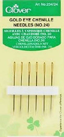 Notions - Clover Gold Eye Chenille Needles - No. 24