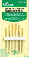 Notions - Clover Gold Eye Tapestry Needles - Assorted