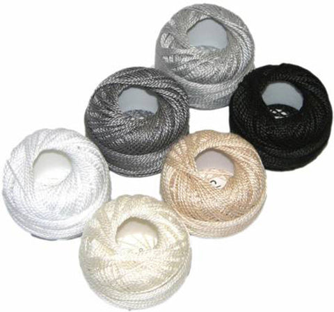 Presencia Perle Cotton Sampler Pack - Neutrals - Size 8