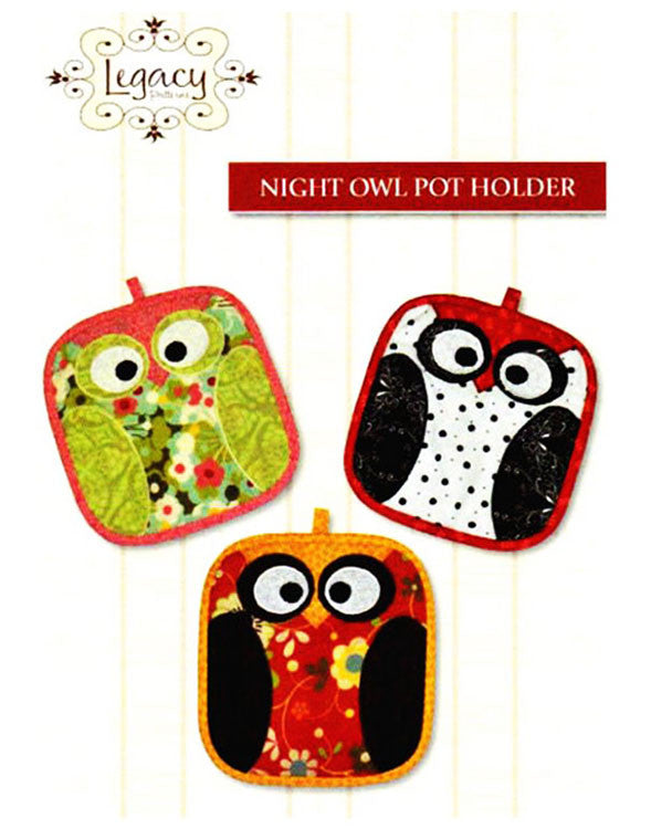 Pot Holder Pattern - Legacy Patterns - Night Owl Potholder