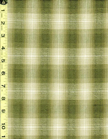 Woven Cotton - Nikko - Stripes with Texture - Olive - Shades of Green - # 3785 - ON SALE