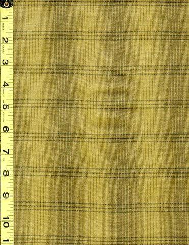 Woven Cotton - Nikko - Plaid - Olive - Yellowish Green - # 3808 - ON SALE