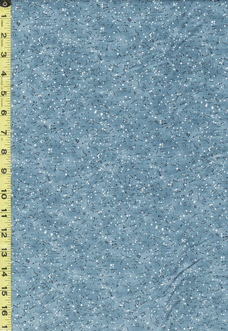 Moda Fabric - The Blues - Tiny Floating Musical Notes & Dots -16902-18 - Light Denim Blue