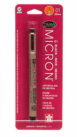 Notions -  Pigma Micron Pen - Black -  Size 01-.25mm
