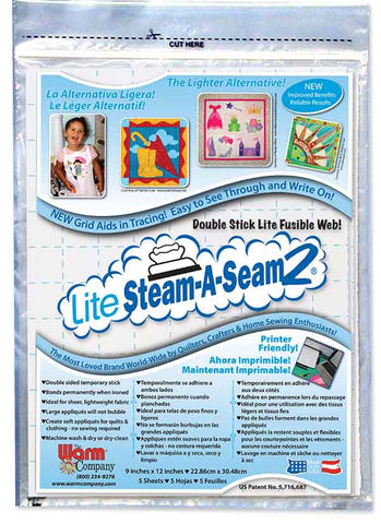 Interfacings & Stabilizers - Steam-A-Seam2 - LITE - 9
