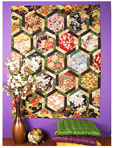 Quilt Pattern & Template - Marti Michell - Interlocking Hexagons - Ode to Asia