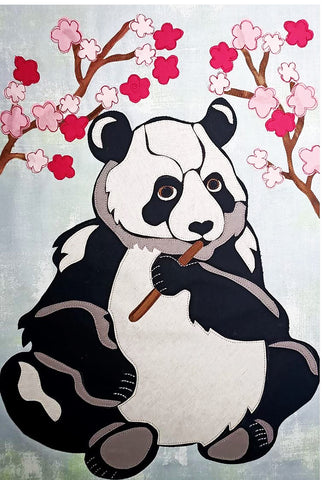 Quilt Pattern - Pattern Poole - Cherry Blossom Panda