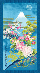 Kona Bay - Mt. Fuji in Moonlight Panel - Blue